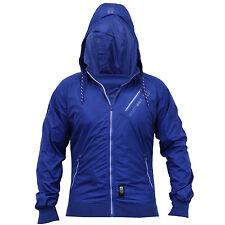 Crosshatch Mens Sodalite Blue White Hooded C/H Flexon Jacket Size XL RRP£45