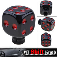 Manual Car Modified Dice Gear Shift Knob Stick Lever Shifter Universal Black