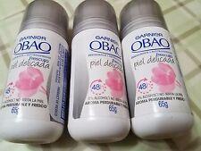 3 pack Garnier Obao Deodorant Antiperspirant No Alcohol Frescura Piel Delicada