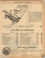1925 PAPER AD Pennsylvania Grand Horse Power Lawn Mower Golf Course