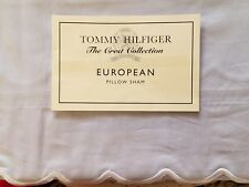 New Tommy Hilfiger Fernanda Light Blue White Scallop Euro Pillow Sham