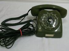 70er Jahre Telefon oliv Wählscheibe GNT Automatic F68 Dänemark mit TAE Stecker