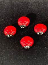 Vintage Ladybug Button Covers