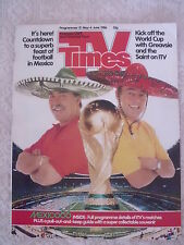 MONDIALI CALCIO MEXICO MESSICO 1986 INSERTO SPECIALE COLORI TV TIMES INGLESE