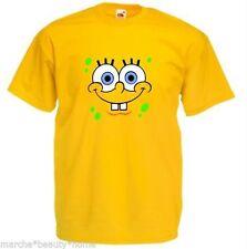 men's spongebob loose fit t-shirt spongebob square pants yellow top fun Medium M