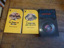 Lot de 3 livres de Anthony Horowitz : destination horreur - le faucon malté