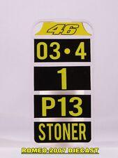 1:12 Pit board - pitboards Valentino Rossi-Stoner no minichamps RARE
