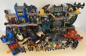 Imaginext Batman Bundle Batcave x2 Batmobile robin Jet Plane Batcycles & Figures