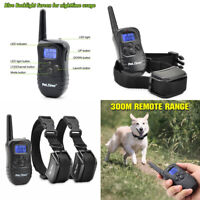 1/2Electric Rechargeable  Dog Training Collars 330 Yards Control Pet Collar