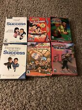 (6) Kids Pc Cd Rom Learning Software And Games
