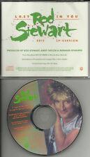ROD STEWART Lost in you w/ RARE EDIT PIC DISC PROMO DJ CD Single 1988 MINT