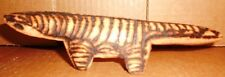 Hand Carved Wooden Anteater Wood Burned Art Figure