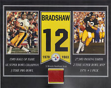 TERRY BRADSHAW PITTSBURGH STEELERS 3 RIVERS STADIUM SEAT 8 X 10 COA