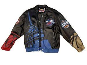 New Vintage 2001 NBA Allstar Commemorative Jeff Hamilton Leather Jacket