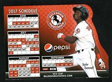 Billings Mustangs--2017 Magnet Schedule--Pepsi--Reds Affiliate