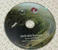 VAUXHALL OPEL MY2011 VER.2018-2019 SAT NAV MAP UPDATE DISC DVD800 CD500