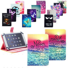 """US Case For Android 7""""inch Tablet Universal Printed PU Leather Folio Stand Cover"""