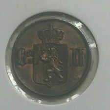 1876 Norway 1 One Ore - High Grade Copper