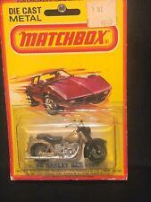 1/64 MATCHBOX VINTAGE #50 HARLEY DAVIDSON MOTORCYCLE GOLD