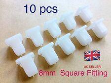 10pcs Square Plastic ( 8mm ) Rivets Fastener Car Bumper Push Screw hold Clips