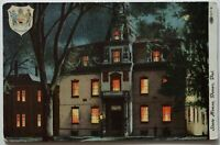 Dover Delaware State House Seal Night View Antique Postcard (b462)