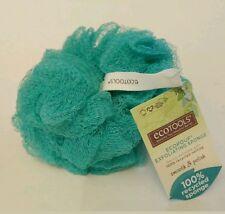 "NEW 5"" ECOTOOLS Sponge Mesh Loofah Scrub Exfoliating 100% Recycled Netting GREEN"