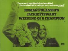 Affiche -  WEEKEND OF A CHAMPION - 102x76cm