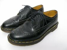 DOC DR MARTENS SHOES BLACK LEATHER MANS MIE DANNON WINGTIP BROGUE LACED BOOTS~9