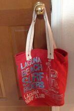 Hollister Tote Bag beach Bag Red and white Laguna Beach