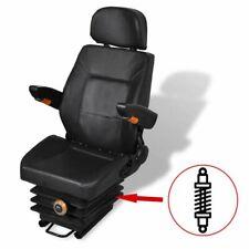 vidaXL Tractor Seat with Suspension Armrest Headrest Spring Tracks Forklift