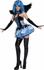 Goth Angel Costume Blue Gothic Fairy Halloween Fancy Dress S UK 8 10 UK Seller