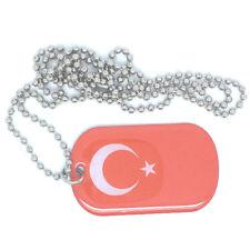 Türkei Türkiye Dog Tag Erkennungsmarke Anhänger Kette flag 3x5cm