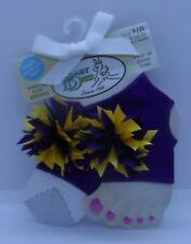 Baby Deer Purple Peep Toe Socks Wear With or Without Socks Size NB-12 Mos. Girl