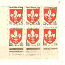 YVERT N° 1230  blasons  LILLE x 6 TIMBRES DE FRANCE Neufs **