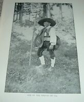 1903 Antique Print ONE OF THE HEROES South Tyrol Italy Man with Axe