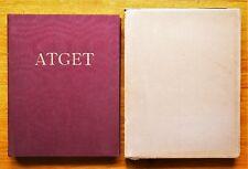 EUGENE ATGET PHOTOGRAPHS OF PARIS/PHOTOGRAPHE DE PARIS 1930 1ST ED W/SLIPCASE
