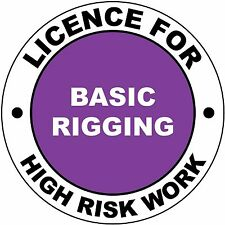 Hard Hat High Risk Licenced Basic Rigging Sticker 50mm WHS OHS