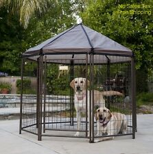 Outdoor Dog Kennel Pet Gazebo House Crate Cage for Patio Deck Yard Large Breed