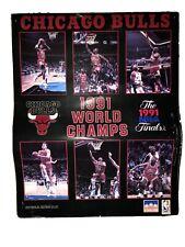 Michael Jordan Chicago Bulls 1991 NBA Champs Vintage Starline Poster 16 x 20