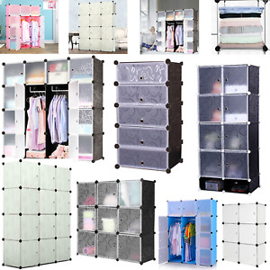 Regalsystem Garderobe Kleiderschrank Schrank Steckregal Schuhschrank Türen DIY