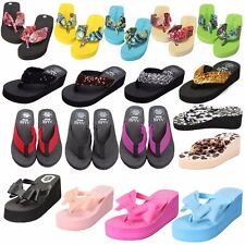 Summer Women Flip Flops Platform Slippers Beach Sandal  High Heel Wedge Shoes