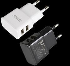 Para Samsung iPhone HTC Nokia Viaje Doble USB 2 puertos 5V 1A Adaptador Cargador de pared y