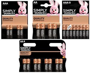 Duracell AA & AAA Batteries Alkaline Power Long Lasting LR03, LR6 Long Expiry