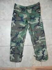 VTG Woodland Camouflage Gore-Tex Trousers USA Made Medium Measured 40x32