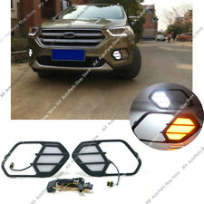 For FORD ESCAPE KUGA 2017-2019  LED Daytime Running Light DRL w/ Turn Signal k