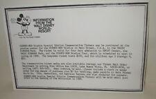 WALT DISNEY WORLD RESORT 1987 MGM STUDIOS COMMEMORATIVE TICKET ORDER INFO CARD