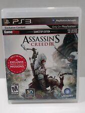 Assassins Creed III GameStop Edition PS3 Playstation 3