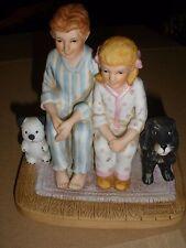 "Normal Rockwell Collectors Club figure ""Santa's Visit"" 1982 B-477"
