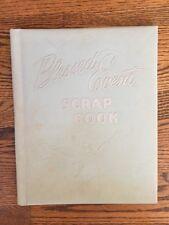 Vintage 40s Baby Scrapbook Book Unused Blessed Event Stork Blue Givens Co.