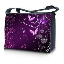 """15.6"""" 15"""" Laptop Notebook Padded Compartment Shoulder Messenger Butterfly Floral"""